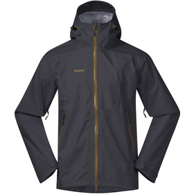 Bergans Letto Chaqueta Hombre, solid dark grey/mustard yellow